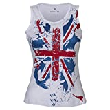 Huetrap Women's Union Jack Print Tank Top