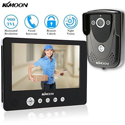 Preisvergleich Produktbild KKMOON 9 Zoll Farbe LCD Video Tür Telefon Gegensprechanlage Türklingel entsperren Monitor regendichte Night Vision IR CCTV Kamera zuhause Überwachung