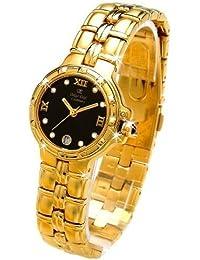 Oskar Emil Ladies Casablanca 300L 23K Gold Diamond Watch with Black Dial