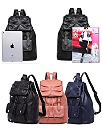 Stylish Travel Backpack Anti-Theft Multi-Functional Middle School Student Bag MCLB Soft Leather Casual Ladies Messenger Bag Color : Purple