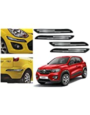 Autopearl Car Double Chrome Linning Bumper Corner Moulding for Renault Kwid -