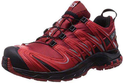 Salomon XA Pro 3D GTX, Herren Trekking- & Wanderhalbschuhe, Rot (Flea/Bright Red/Black), 42 2/3 EU (8.5 Herren UK) (Red Herren-schuhe)