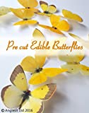 12 X PRE-CUT BEAUTIFUL LARGE YELLOW BUTTERFLIES EDIBLE RICE / WAFER PAPER PRE CUT CUPCAKE CAKE DESSERT TOPPERS BIRTHDAY PARTY WEDDING BABY SHOWER EASTER DECORATIONS (Large)