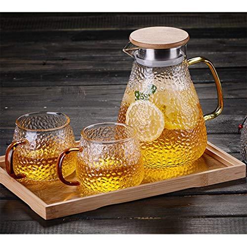 Teemaschinen & -kocher Kessel Kaltwasserflasche Hammer Glas Hochtemperaturbeständige Teekanne Kühlen Offenen Kessel Filter Auslauf Große Kapazität Saft (Color : Clear, Size : 8 * 19 * 13.5cm) (Saft-auslauf)