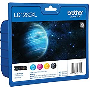 Brother - LC1280XL- Pack de 4 Cartouches d'Encre d'Origine