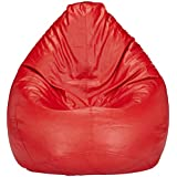 Solimo XXXL Bean Bag Cover Without Beans (Red)