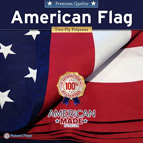 Uns Vereinigten Staaten Double Gewicht Polyester Amerikanische Flagge gestickte Sterne–genäht Streifen, Gesponnenes Polyester, 4x6'