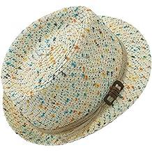 EveryHead Fiebig Sombrero De Mujer Gorro Papel Fedora Equinácea Verano Moda  La Marca Fiesta Estampado con 055f6b30a5a