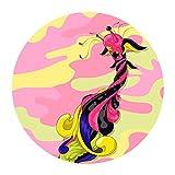 Stickie Stuff sonrisa Monsta 1050203–Aspirador de lodos, tela DIY adhesivo círculos pared lienzo, tejido de poliéster, grande, 71x 71cm, Multi/color