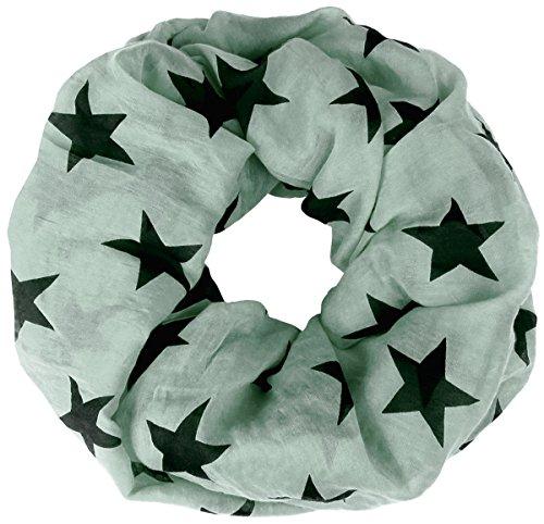 Lovely Lauri Basic Sterne Loop Baumwolle und Seide Made in Italy hellgrün