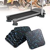 SEGRJ 6Pcs Schallschutzmittel Laufband Mat Sound Isolierung Kissen Thickened Home Fitness