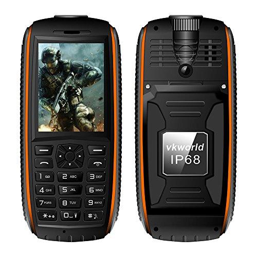 Preisvergleich Produktbild Danny3 Vkworld Neuer Stein V3 Max IP68 Senior Handy 2 SIM Staubdicht Shockproof Dropproof mit großen Tasten Mit Taschenlampe,Orange