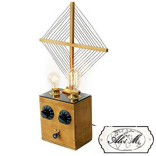 Lampe de table artisanale Lorraine 2 x E27 Edison Vintage