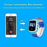 Witmoving Kinder Smart Uhr Watch GPS-Verfolger Armbanduhr SOS Armband mit SIM-Karten Slot für IOS Android Smartphones (Rosa) - 5