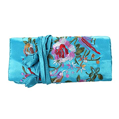 Housweety 1Pcs Handmade Embroider Jewelry Pouch Bag for Jewelry Organizer