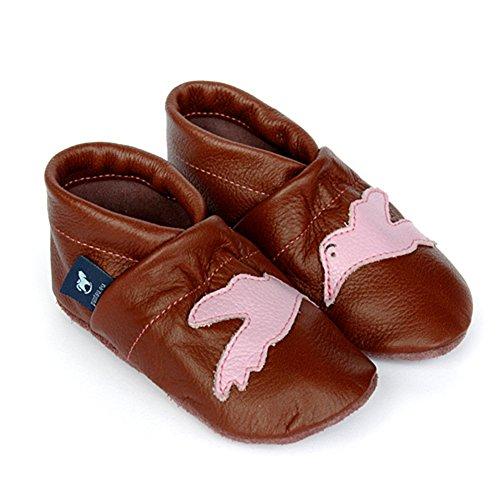 De rosa Bebê eu Sapatos Sapatos Couro Couro Puschen De Sapatos Walker Braun Com Rastejando Pássaro Pantau Oz8wwnqfF