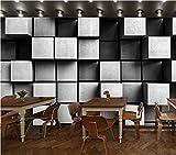H&M Tapete Hochwertiges Vliesstoff Modernes 3D-Tapete Dekoratives Wohnzimmer Restaurant TV Wand Schlafzimmer Kaffeehaus Kleidergeschäft Kunst Tapeten 100cm * 100cm - Schwarz und Weiß