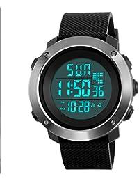 Addic Digital Silver Dial Men's & Boy's Watch (Skmeimw47)