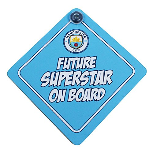 Spot On Geschenke Manchester City Baby on Board Schild