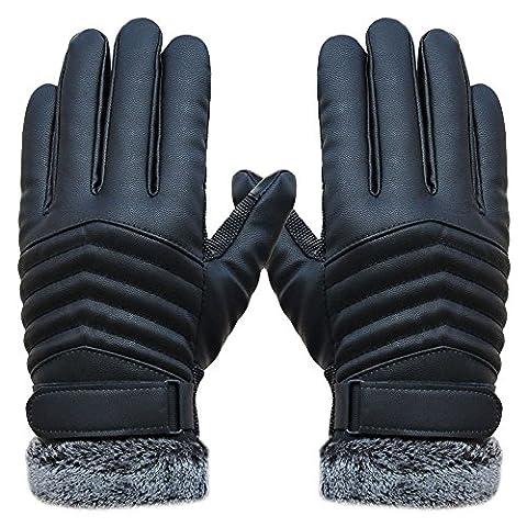 Saingace gloves Anti Slip Men Thermal Wintersport Leder Touchscreen Handschuhe