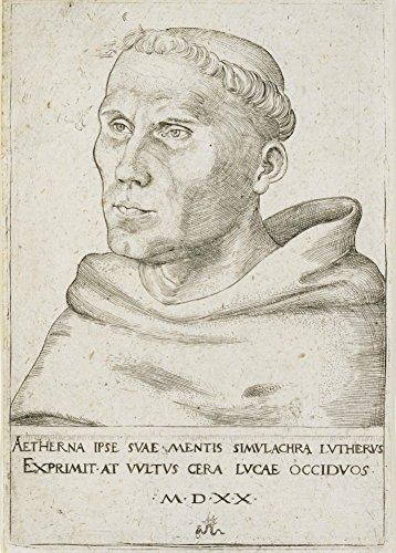 LUCAS CRANACH THE ELDER 'Martin Luther, Büste in Dreiviertelansicht' circa 1520. 250 g/m²,...
