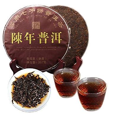 Thé Pu'er chinois 357g ?0.787LB? Thé Puer mûr Thé noir Chennian Qizi Cake au thé Vieux thé Pu-erh Thé cuit Vieux arbres Pu pu thé