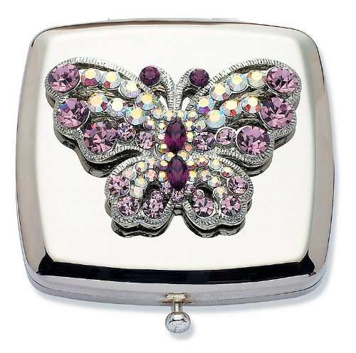 Jodie Rose Amethyst Crystal Schmetterling Compact Spiegel (Handtaschen Amethyst)