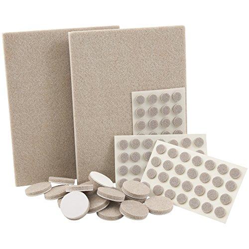 SoftTouch 4714795 N Self-Stick meubles Patins en feutre et pare-chocs pour surfaces dures (320 pièces), beige, 4760095N