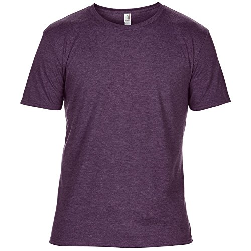 Anvil Herren Tri-Blend T-Shirt mit Rundhalsausschnitt, Kurzarm Rot meliert
