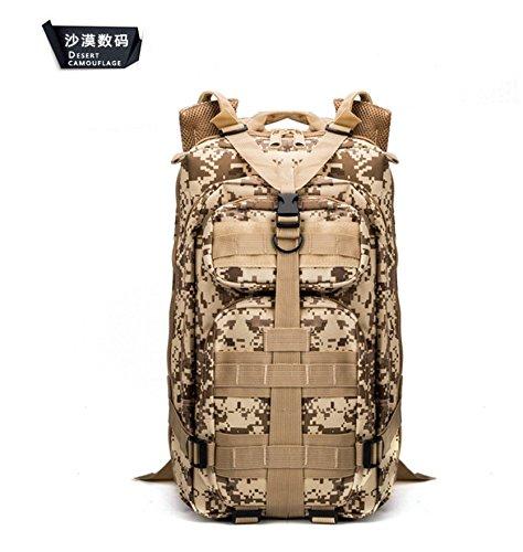 Multifunktionale Schulter Taschen Outdoor Freizeit Rucksack camouflage Wandern camping Rucksack 43 * 26 * 23 cm, CP Farbe Wüste Digital