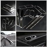 Emblem Trading Mittelkonsole Armaturenbrett Blende Verkleidung Rahmen Edelstahl Optik Autozubehör