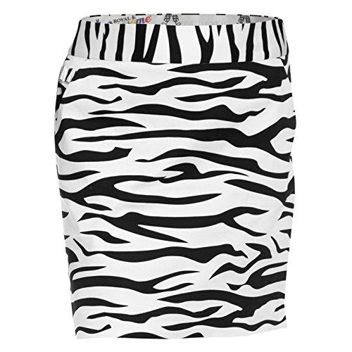 Royal & Awesome Damen Rock Zebra to Ze Bar Ladies Skort, Multicolour, 42,
