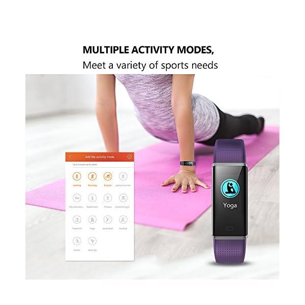 Vigorun Pulsera Inteligente IP68 Impermeable Fitness Tracker Deporte Rastreador de Actividad de Pantalla Colorida con… 4