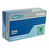 Rapid 11905711 - Grapa (Paquete de grapas, 6 mm, 5000 grapas, R14, R34, R44, R64, ALU740, ALU840, ALU940, R11, R311, E-tac, ESN114, PS111, 110 mm, 37