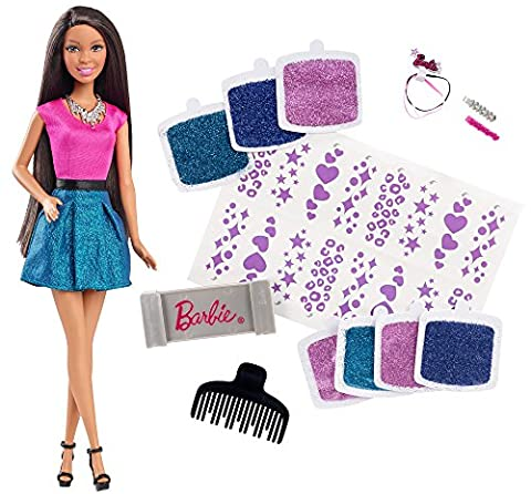 Barbie Glitter Hair Design African-American