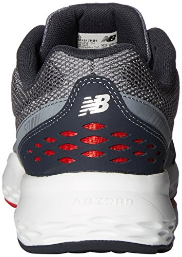 New Balance Training, Scarpe Sportive Indoor Uomo Grigio (Grey/Red)