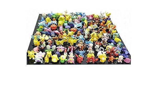 Buy mbs store 48 pcs set hot toys pokémon action figures cartoon