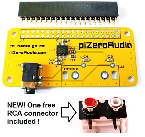 Scooter Stereo-system (Audio DAC HAT Sound Card (AUDIO+) for Raspberry Pi Zero / A+ / B+ / Pi 2 : Pi 3 Model B / Better quality than USB)