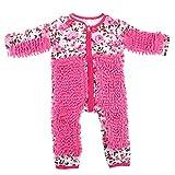FLAMEER Lustiger Baby Kleidung Wischmop wischen Boden Strampler Overall Jumpsuit zum Krabbeln - Rosa, 80 cm
