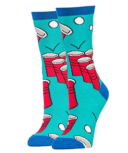 Oooh-Yeah-Womens-Luxury-Combed-Cotton-Crew-Socks-Funny-Christmas