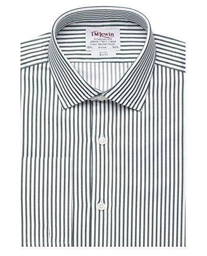 tmlewin-camisa-casual-rayas-clasico-manga-larga-para-hombre-verde-verde