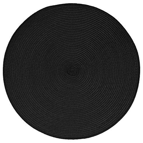 Paris Prix - Set De Table Rond 38cm Noir