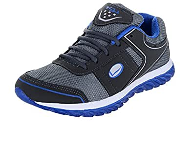 Lancer Men's Grey Blue Running Shoes-6 (HYDRA-42DGR-RBL-6)