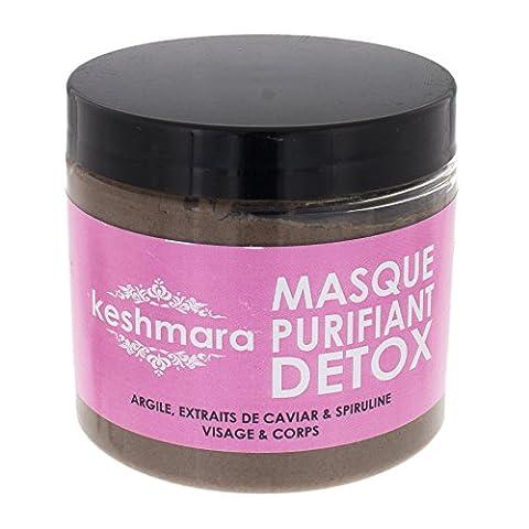 keshmara Masque Purifiant Detox pour Visage/Corps Argile 200