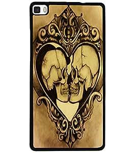 ColourCraft Funny Skulls Design Back Case Cover for HUAWEI P8