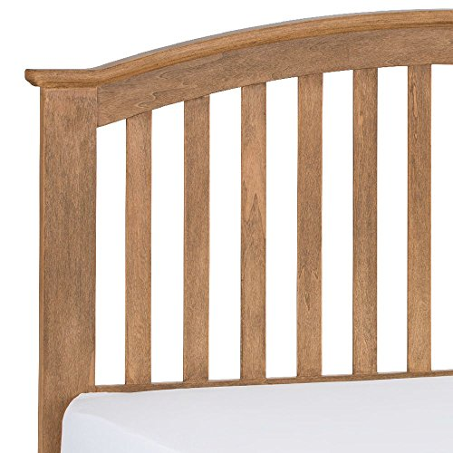 Wooden Low Foot Bed, Happy Beds Olivia Oak Wood Traditional Bed - 4ft6 Double (135 x 190 cm) Frame Only