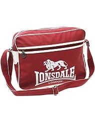 Lonsdale cansadamente rojo/blanco Bolsa de mensajero bolsa, color , tamaño talla única