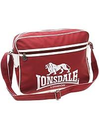 Lonsdale Sac Rouge/Blanc/Sac fourre-tout Messenger sac fourre-tout