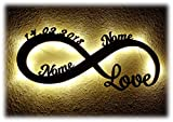 Luce Regali di nozze Amore infinito Idea Regalo Anniversario Matrimonio con Nome per Ragazza Ragazzo Donna per l'anniversario per lei lui San Valentino Ti Amo