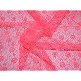 114,3 cm extra anchos para hombre cortinas de encaje tela Cerise rosa - por metro